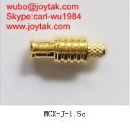 Buy cheap El oro de alta calidad plateó el conector coaxial 50ohm MCX-J-1.5C de la encrespadura del streight del enchufe MCX product
