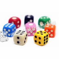Buy cheap Yellow / Red Gamble Cheat Dice 14mm 2 Players With Liquid Mercury product