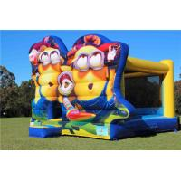 Plato PVC Minions Inflatable Bouncer For Kids Fun / Jumping Castle Bounce House