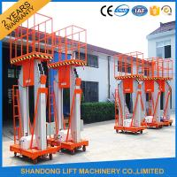 Buy cheap 200kg 10m Movable Aerial Work Platform Lift , Hydraulic Safety Work Platform Rental product