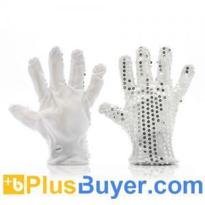 Buy cheap LEDの手袋(6つの点滅モード、銀製のきらめきの13000MCDを)変える色 product