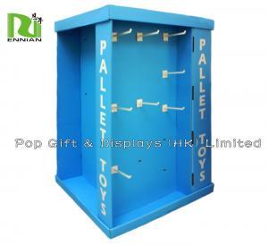 Buy cheap Corrugated Cardboard Pallet Custom Pop Displays With Plastic Peg Hooks product