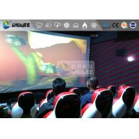China Interaction Reality 7D Movie Theater With Red Fiber Glass Motion Seats on sale