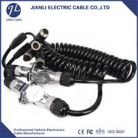 Buy cheap Custom Tractor Coiled Power Cable With 7 Pole Female To Female Connector product