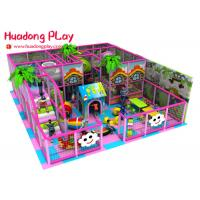 Buy cheap Candy Style Indoor Playground Equipment , Pink Commercial Indoor Play Structures With Mini Size Slides product
