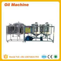 Buy cheap Edible sunflower seeds oil refining machinery with CE and ISO for sale product