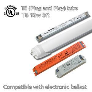 Brightest Fluorescent SMD LED Tube Light AC 100V - 277V , DLC / TUV Certified