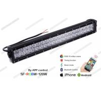 China Bluetooth Controlled Color Changing LED Light Bar , 21.5 Inch 120W RGB LED Light Bar on sale