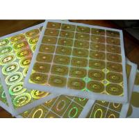 Buy cheap Round Circle Security Hologram Sticker Permanent Adhesive Waterproof product