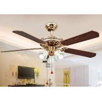 China Electroplated Rose Gold Modern Ceiling Fan Light Fixtures with Iron , Acrylic on sale