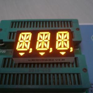 Buy cheap Anode Ultra Amber 14 Segment Alphanumeric Display 14.2mm Cathode Polarity product