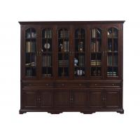 Buy cheap Home Office Study room furniture American style Big Bookcase Cabinet with Display chest can L shape for corner wall case product
