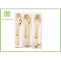 China Colorful Eco Friendly Cutlery Compostable Tableware Wooden Forks And Spoons For Party wholesale