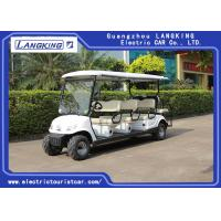 Buy cheap Beach Tire  Battery Powered Electric Road Legal Golf Cart For 7 - 8 Person Adults product