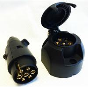 Quality Custom Plastic 7 Pin Towing Socket , Towbar Electric Socket Waterproof for sale