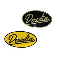 Buy cheap Customed Create Hard Enamel Lapel Pins Badges With Black And Yellow Letter from wholesalers