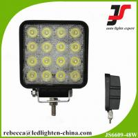 China 12V 24V 48W auto LED work light square LED work lamp for truck on sale