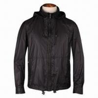 China Men's Jacket, Made of 95% Cotton and 5% Spandex, 100% Lamb Skin, Available in Various Sizes on sale