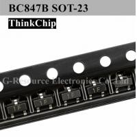 China BC847B Bipolar Bjt Npn Pnp Transistor BC847A BC847C 45V 100mA Surface Mount SOT-23 on sale