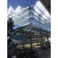 Buy cheap BS Standard Hot Dip Galvanized Prefabricated Workshop Steel Structure Materials product