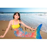 Buy cheap 3PCS Sets Toddler Swimmable Mermaid Tail For Boys / Girls Flexible Elastic product