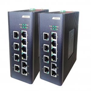 Buy cheap commutateur de réseau de la fibre 8E + 2G, 8 ports de 100M TX de + commutateur Unmanaged industriel 2 ports de 100/1000M TX from wholesalers