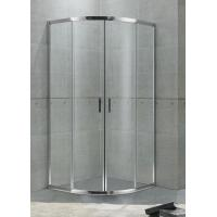 Buy cheap Economic Aluminum Alloy Quadrant Shower Enclosures Bright Sliver For Hotel / Home product