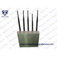 Buy cheap 5 Antenna Mobile Phone Jammer , Cell Phone Jamming Device 3G GSM CDMA DCS product