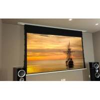 Buy cheap Tubular Motor Ceiling Projector Screen Recessed Tab Tensioned Screen product