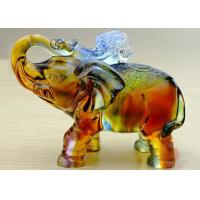 Buy cheap High End Colored Glaze Elephants Figurine Statue For Office / Home Decoratio product
