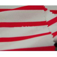 China Cooldry cationic polyester pique mesh color stripes fabric MF-081 on sale