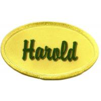 China Harold name patch no minimum DYED personalized name badge on sale