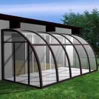 Buy cheap Curved Tempered Glass with 1.1m Radius, Bend All Types of Coated Glasses product