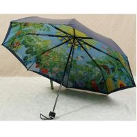 Buy cheap 21 Inches Collapsible Patio UmbrellaManual Open Metal Frame Printed Pattern product