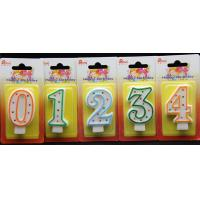 Buy cheap Best-selling Number Candle unique Colorful polka dot number birthday candle With Multi-color edge product