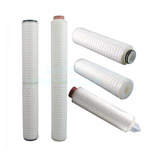 Buy cheap DOE Thread 60 inch 0.45 Micron Pleated Membrane PTFE Water Filter product