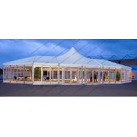 Buy cheap Large High Peak PVC Event Tent , Special Shape Outdoor Canopy Tent Glass Windows from wholesalers