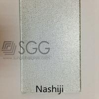 China Clear Glass Figured Glass Technique and Flat Shape Clear Nashiji patterned glass on sale