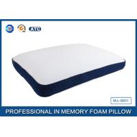 China Bread Shaped Cool Silica Gel Memory Foam Pillow With Piping Zippered Cover wholesale