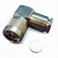 Buy cheap RF Coaxial Connector N Plug R/A Clamp for LMR400, with Teflon Dielectric product