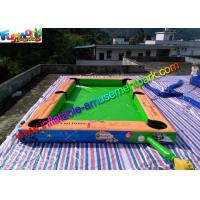 China Double Stitch Inflatable Games Rentals Snooker Field With Full Printing on sale