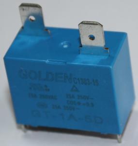 China Blue GT-1A-12D 25A 12 Volt 2 Pin Relay Environmental Friendly Custom on sale