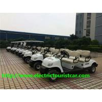 Buy cheap Fuel Type White Street Legal Electric 4 Passenger Golf Cart 48V / 3KW With Basket from wholesalers