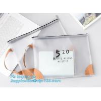 Buy cheap Clear vinyl Drawstring Bag, plastic custom printed pencil case, silicone DIY pencil case for gift, polyester rubber plas from wholesalers