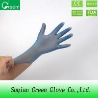 Buy cheap Blue Disposable P Free Powder Free Vinyl Gloves Food Safe Small Size Durable product