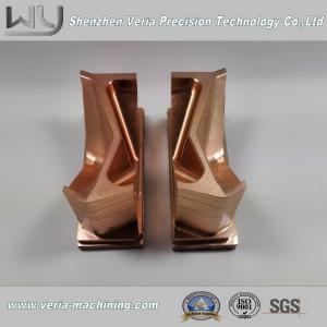 Buy cheap 精密CNCは銅の部分/CNCの真鍮の機械化の部品の電極の部品を機械で造りました product