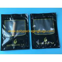 Buy cheap SGS Black Moisturizing Bag Can Hold  4-6 / Cigar Bags With Transparent Window product