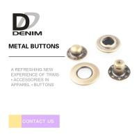 Buy cheap Anti-Brass Snap Buttons Flat Ring 4 Parts 17MM Lead Free Eco-Friendly product