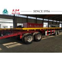 Buy cheap 10 Meter 4 Axle Flatbed Pulling Trailer, Flatbed Drawbar Trailer from wholesalers