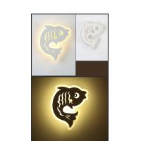 China IP40 3000K Fish Acrylic LED wall light /indoor led wall lamp for Children rooms on sale
